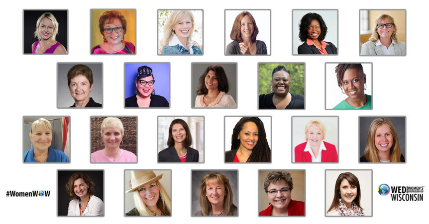 Photo of heads shots of the speakers at the Women's ENTREPRENEURSHIP Day Conference in Madison WI